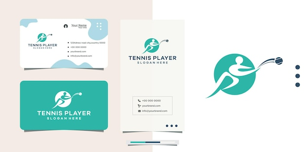 Immagine del design del logo per lo sport del tennis