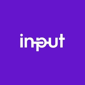 Input di testo per il design del logo e le sue illustrazioni uniche e semplici, con un tocco moderno di design del logo