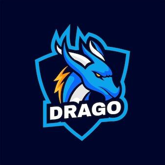 Logo dragon semplice stile mascotte