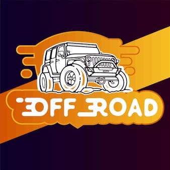 Logo e sport per squadra offroad