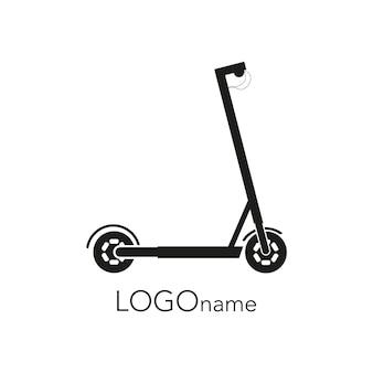 Logo scooter elettrico grafica vettoriale