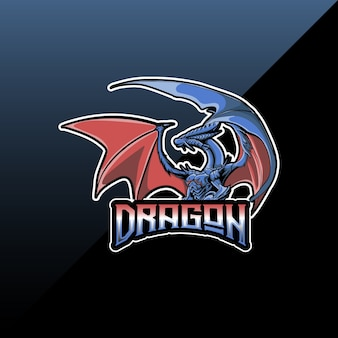 Logo esport con icona del personaggio del drago