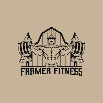 Logo per la palestra nella zona dell'azienda agricola