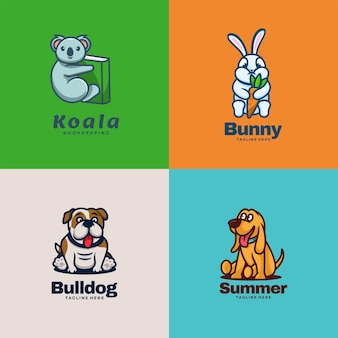 Illustrazione di logo stile semplice animale della mascotte.
