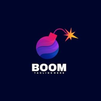 Logo illustrazione boom gradient colorful style.