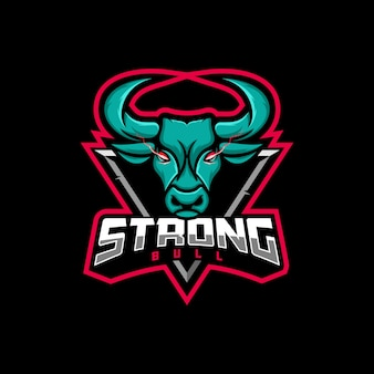 Logo illustration bull gaming