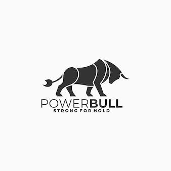 Logo illustration bull silhouette