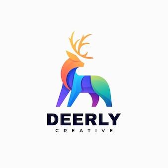 Logo illustrazione cervo gradiente stile colorato