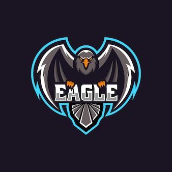 Logo illustration eagle e sport e sport style