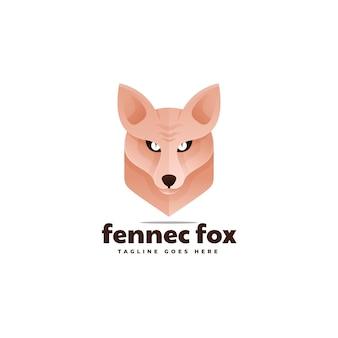Illustrazione logo fennec fox gradiente stile colorato