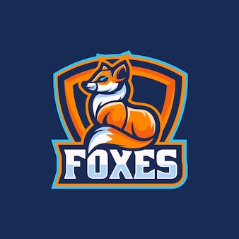 Illustrazione del logo fox e sport e sport style