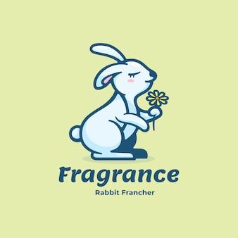 Logo illustrazione fragranza stile mascotte semplice.