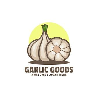 Logo illustrazione aglio merci semplice stile mascotte.