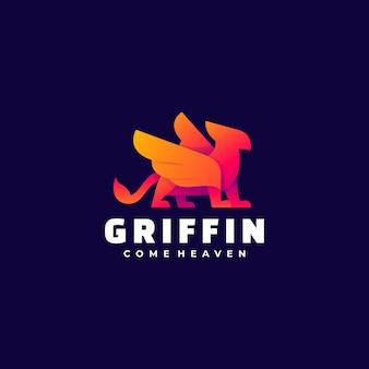 Logo illustrazione griffin gradiente colorato.