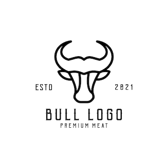 Logo illustrazione testa toro