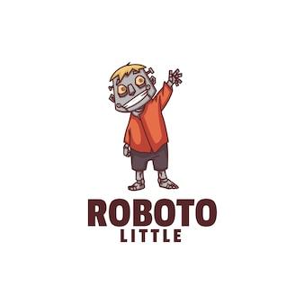 Logo illustrazione robot mascotte stile cartone animato.