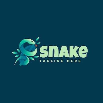 Logo illustrazione snake gradient colorful style.