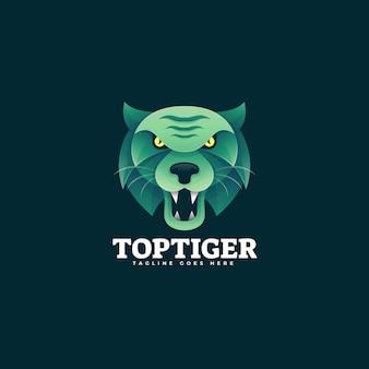 Logo illustrazione tiger gradient colorful style.