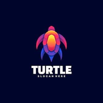 Logo illustrazione turtle gradient colorful style. Vettore Premium