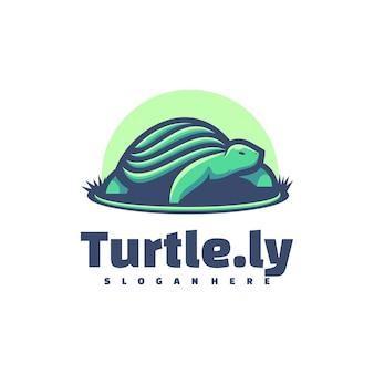 Logo illustrazione tartaruga semplice stile mascotte.