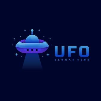 Logo illustrazione ufo gradient colorful style.