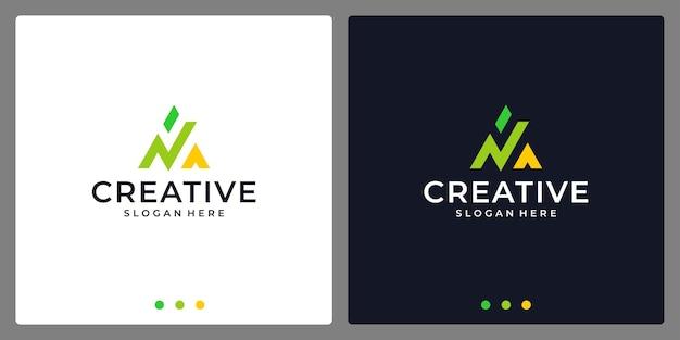 Lettera iniziale del logo un abstract con il logo di analytics. biglietto da visita.