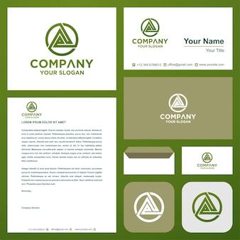 Logo lettera iniziale ze nel biglietto da visita premium vector logo premium