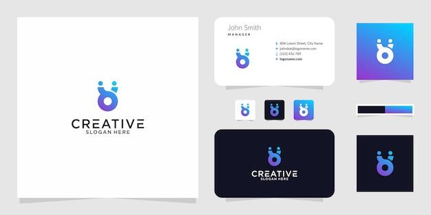 Le iniziali del logo by il design grafico per altri usi è molto adatto da usare