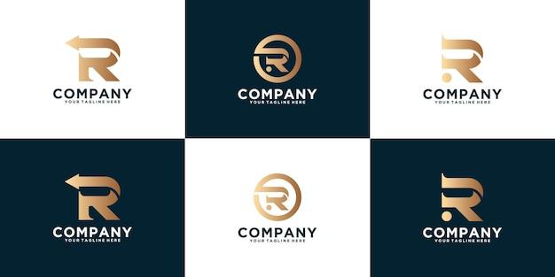 Ispirazione del logo per l'iniziale r . collezione di monogrammi