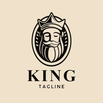 Modello di testa del re logo