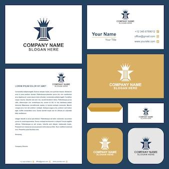 Logo legge corona e biglietto da visita