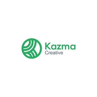 Logo lettera k modello di logo minimalista