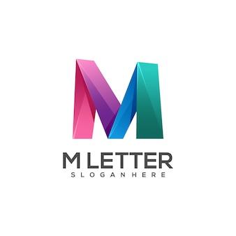 Logo lettera m gradiente colorato