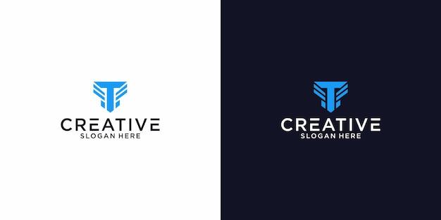 Logo letter tf graphic design per altri usi è molto adatto