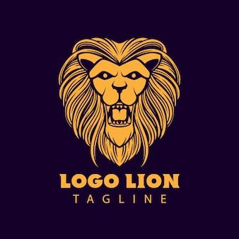 Illustrazione della testa del leone di logo