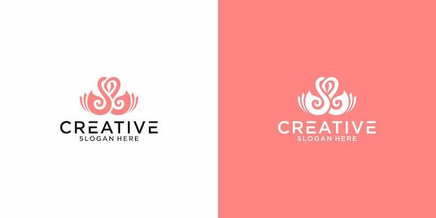 Logo love swan graphic design per altri usi è molto adatto