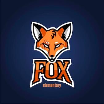 La mascotte del logo è una volpe per lo sport. illustrazione vettoriale.