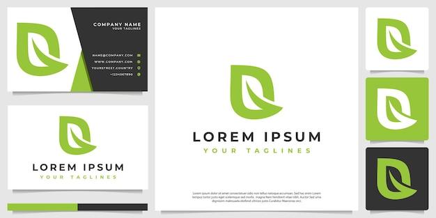 Logo moderno minimalista foglia astratta