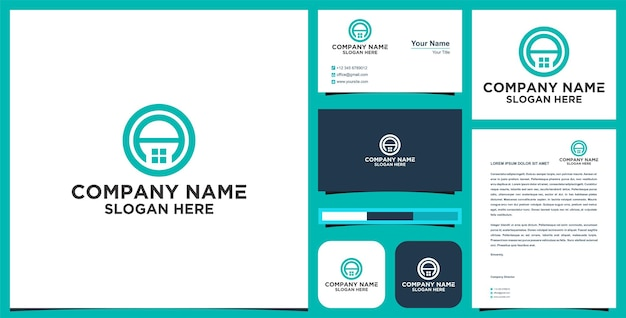 Logo immobiliare iniziale a e biglietto da visita