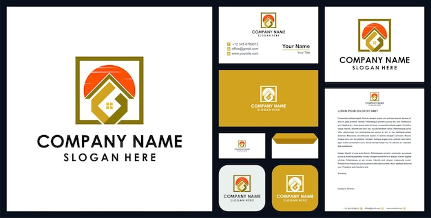 Logo immobiliare con lettera g premium