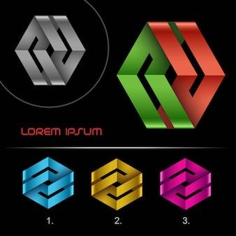 Modello di disegno astratto del nastro di logo