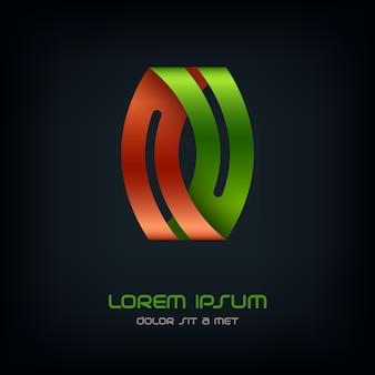 Nastro con logo, modello di disegno astratto di affari, logotipo infinito in loop.