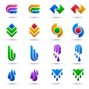 Logo set modello di raccolta