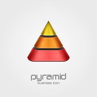 Logo a forma di modello di struttura piramidale