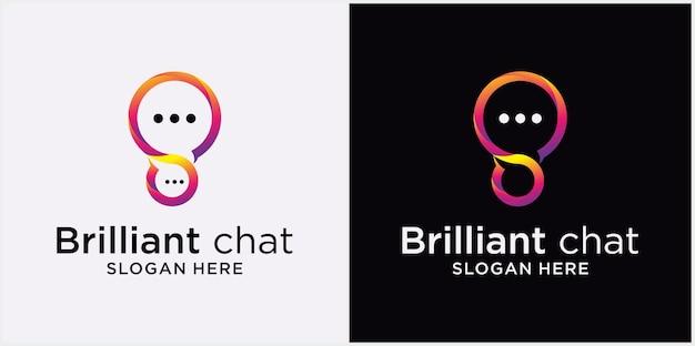 Logo speech bubble icon logo illustrazione vettoriale chat comunicazione logo design vector chat app