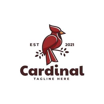 Modello di logo di cardinale simple mascot style