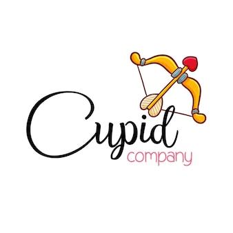 Modello di logo per azienda cupido