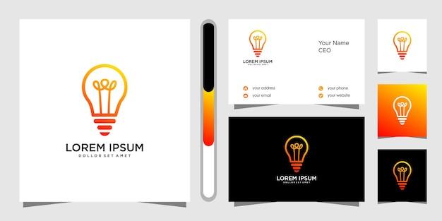 Modello di logo design e biglietto da visita