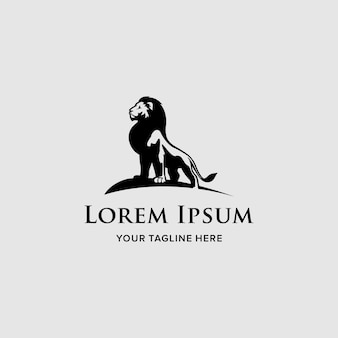 Logo template lion company