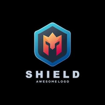 Logo modello scudo gradiente logo colorato